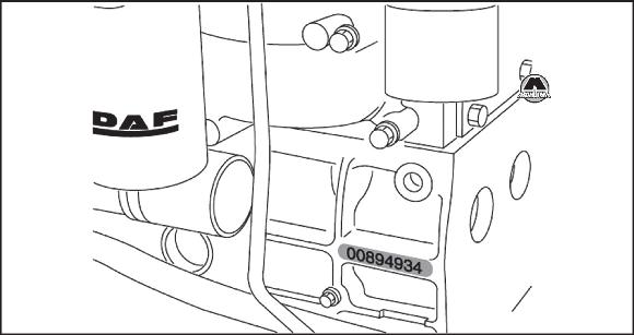 Номер двигателя DAF XF95