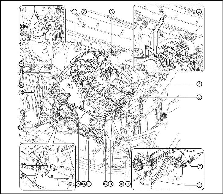 Снятие двигателя Iveco Daily