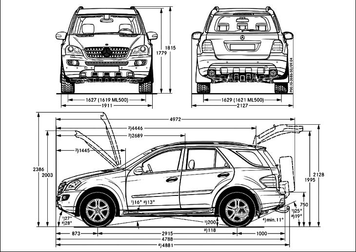 Автомобиль Mercedes ML