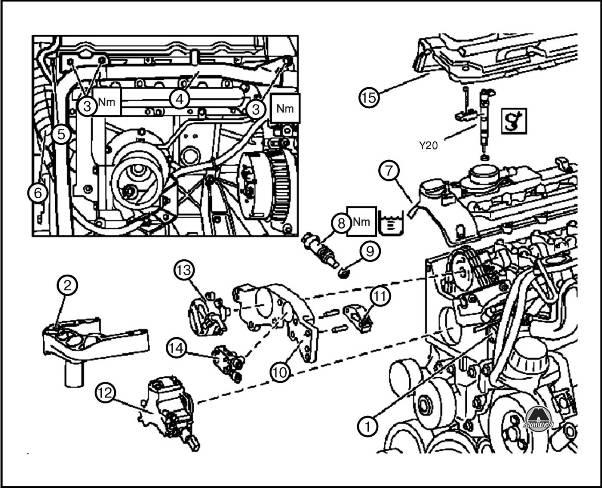 кронштейн двигателя. 3.