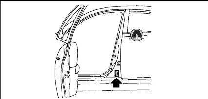 Табличка с информацией о шинах Nissan X-Trail Rogue