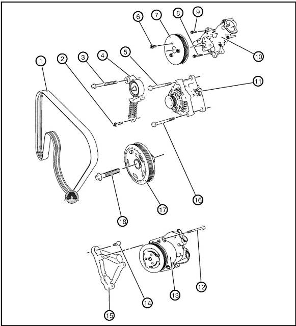 Ремень привода генератора и