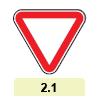 2.1 «Уступить дорогу»