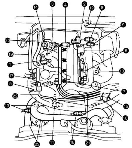 Снятие двигателя Suzuki Grand