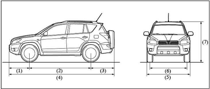 размеры колеса на рав 4