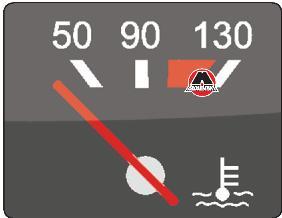 Указатель температуры охлаждающей жидкости ВАЗ 2109