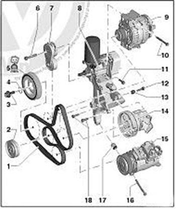 Фольксваген транспортер ремень привода генератора стыковка ленты конвейера