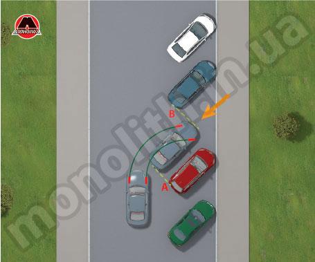 Выезд из парковки ёлочкой