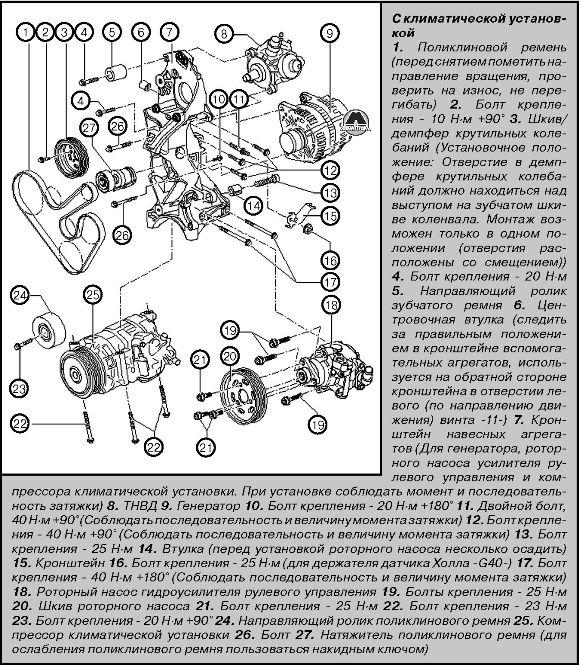 Установка двигателя Volkswagen