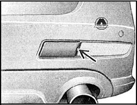 эскиз буксировочной петли для фольксвагена пассат b6