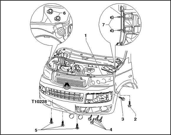 1. Рамка радиатора с навесными