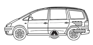 Замена колеса VW Sharan/SEAT Alhambra/Ford Galaxy