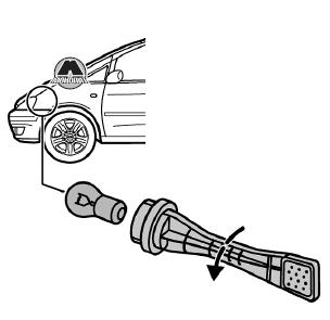 замена ламп габаритов ford galaxy