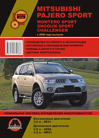 Руководство по ремонту Mitsubishi Pajero Sport / Mitsubishi Montero Sport / Mitsubishi Shogun Sport с 2008 года
