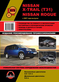 Руководство по ремонту Nissan X-Trail (T31) / Nissan Rogue c 2007 года