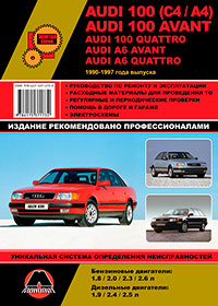 Руководство по ремонту Audi 100 (C4 / A4) / Audi 100 Avant / Audi 100 Quatt ...